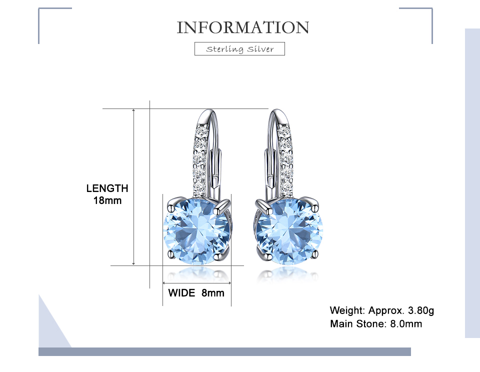 silver gemstone topaz earrings for women  (2)