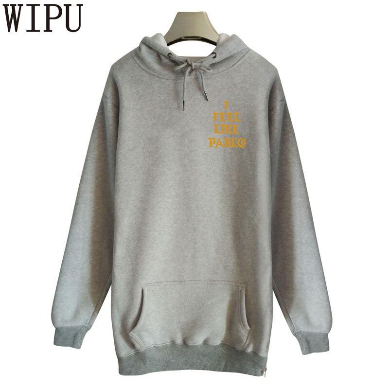 WIPU fashion lengthen Hoodie moletons masculino i feel like pablo Hoodies sweat homme hoody poleron hombre Mens sweatshirt