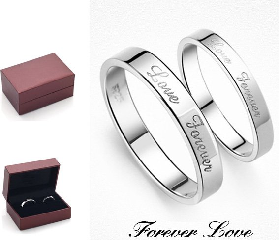 Free Shipping Love Forever 925 Sterling Silver Best Gift
