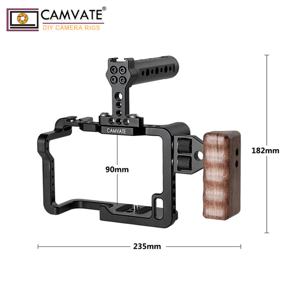 Image 2 - CAMVATE GH5 Full Cage Kit With Handles And Shoe Mountsp C1909-in Photo Studio Accessories from Consumer Electronics