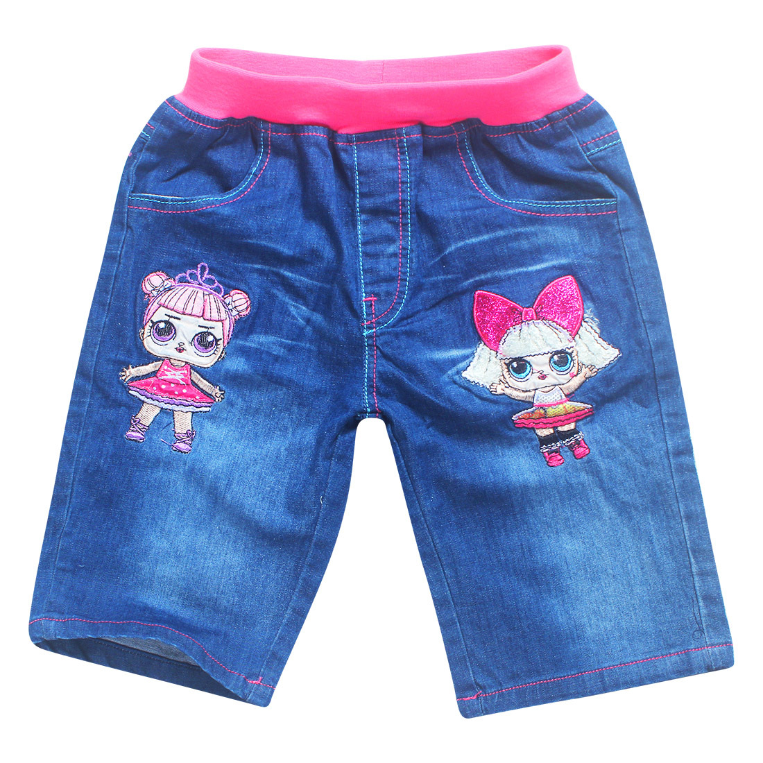2018 lol roblox Cotton pine tight jeans shorts childrens fashion girl fashion girl fashi ...