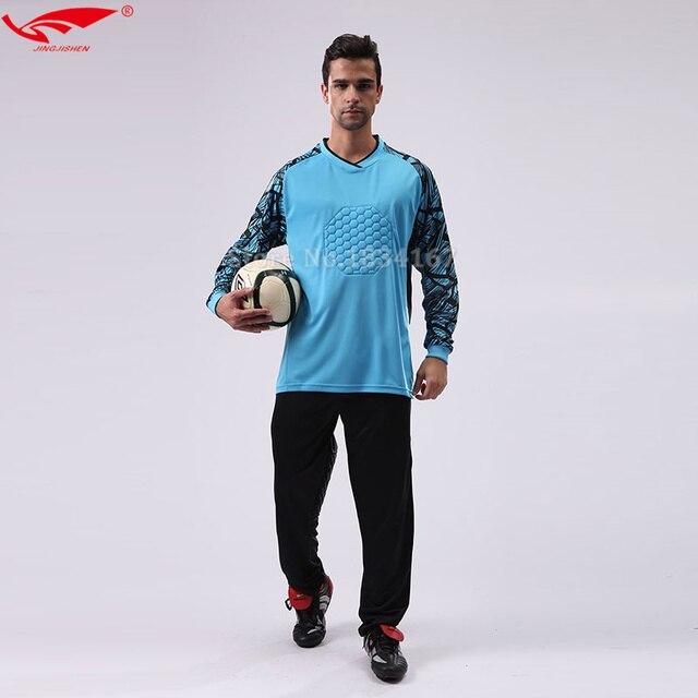 2018 hombres portero uniformes de manga larga alta calidad portero de fútbol  kits equipo Jerseys para f7dc22cb1b80f