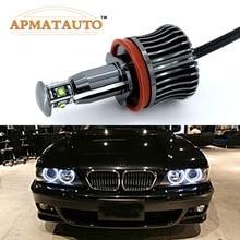 2x H8 ошибок 40 Вт 2400lm XPE LED чипы светодиодный Ангел глаз габаритные огни лампы для BMW E60 E61 E70 E71 E90 E92 E93 X5 X6 Z4 M3