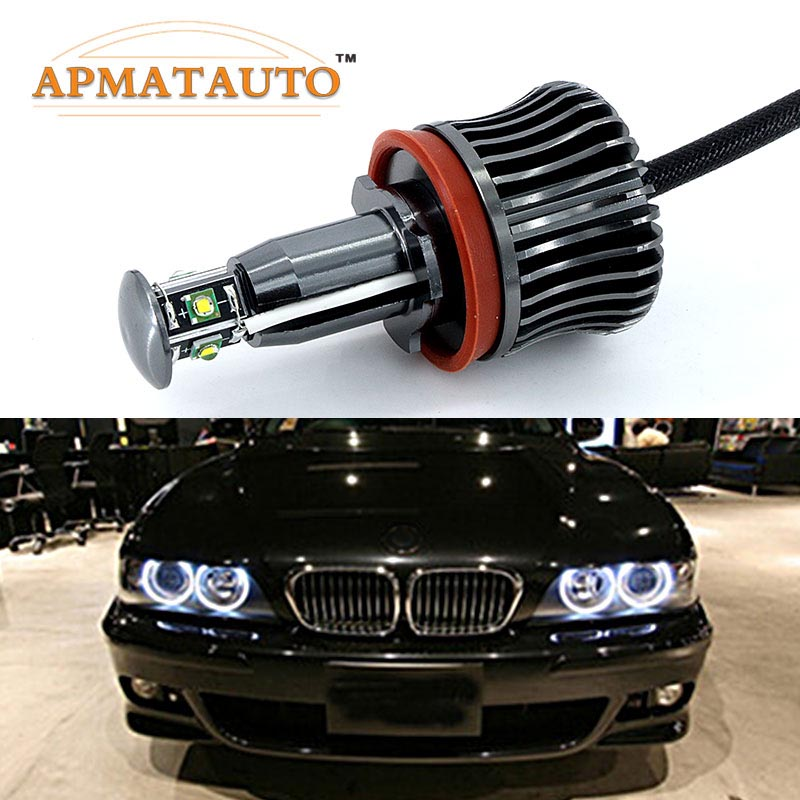 2x H8 Error Free 40W 2400lm XPE Chips LED Angel Eye Marker Lights Bulbs For BMW  E60 E61 E70 E71 E90 E92 E93 X5 X6 Z4 M3