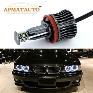 Image 1 - 2x H8 Hata Ücretsiz 40 W 2400lm XPE Cips LED Melek Göz Işaretleyici Işıkları Ampuller BMW E60 E61 E70 e71 E90 E92 E93 X5 X6 Z4 M3