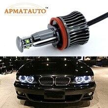 Luces LED de ojo de Ángel para BMW, Chips XPE de 40W y 2400lm, sin Error, para BMW E60, E61, E70, E71, E90, E92, E93, X5, X6, Z4, M3, 2 uds.