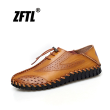 ZFTL New Men Loafers man Peas shoes Genuine Leather Large size Lazy shoes male casual shoes driving shoes leisure men loafers 68