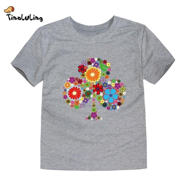 TINOLULING 2018 Summer Kids Flower Tree T-Shirt Boys Girls Tree T Shirt Children Tops Baby Tees For 2-14 Years