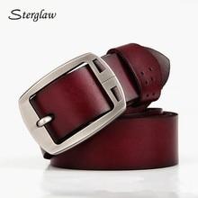 Hot strap male genuine leather trouser men's belts jeans moda 2017 femenina luxury brand designe casual female wide belt I212
