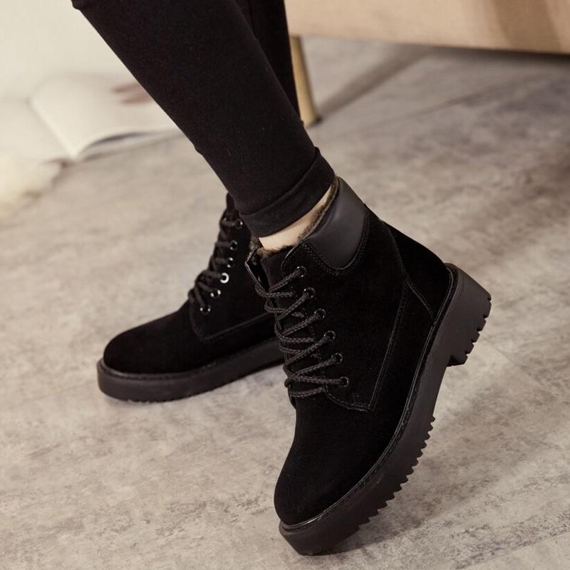 Bottines nouvelle mode chaussures d'hiver femmes bottes de neige en cuir bottes femmes chaussures de fourrure chaud botines mujer 2019 NA214