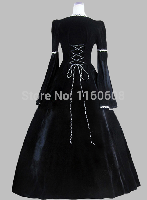 Aliexpress.com : Buy 19th Century Gothic Black and Blue Print ...