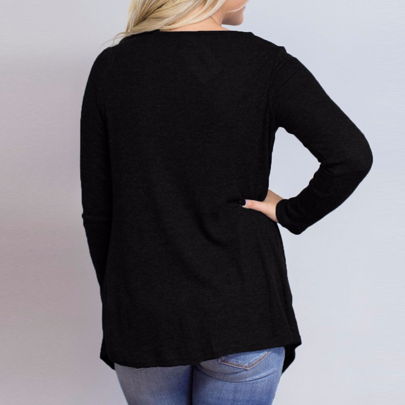 HTB1PztkOpXXXXaBaFXXq6xXFXXXw - Women Cardigan Long Sleeve O Neck Casual Loose Blouses