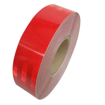 Reflective Strips 10 Rolls/Lot 5CM*45M Safety Warning Sign Tape Body Stickers Wholesale PET Lattice Adhesive Wear-resistant