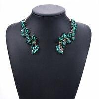 Роскошные стеклянные открытые ожерелья с кристаллами, женские свадебные ювелирные изделия, ожерелье с большим воротником, женское массивн...