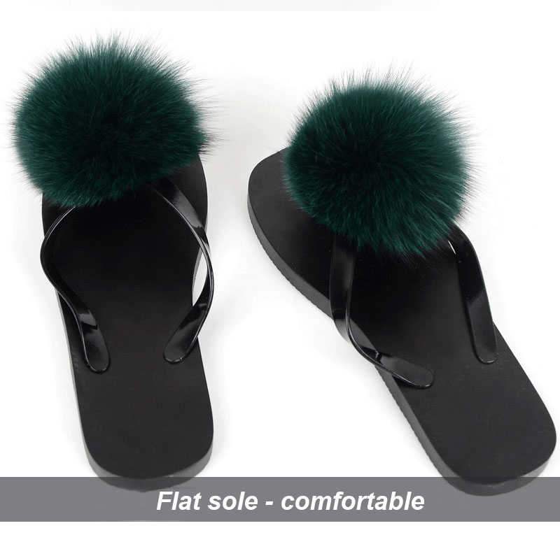 women slippers fox fur pompom (30)