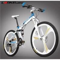 L260102 26 Inch Carbon Fiber Mountain Bike Mountain Bike 24 Speed Oil Dish One Round Bike