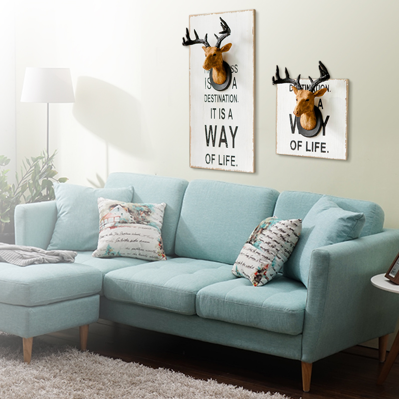 Vintage Home Decor Deer Head Wall Decoration Resin Crafts Animal