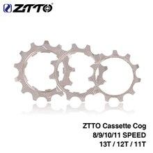 ZTTO 1 шт. MTB дорожный велосипед свободного хода Cog 8 9 10 11 скорость 11T 12T 13T велосипедный Кассета звездочки аксессуары для Shimano SRAM