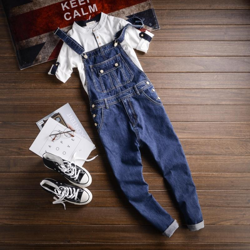 2017 New Spring and Autumn Fashion Mens Denim Bib Overalls Jeans Men's Clothing Casual Jumpsuit Jeans Pants For Man Ankle Length plus size pants the spring new jeans pants suspenders ladies denim trousers elastic braces bib overalls for women dungarees