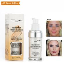 TLM, 30 мл, волшебная меняющая цвет жидкая основа для макияжа, основа для макияжа, покрытие для лица, консилер, стойкий макияж, Тональная основа для кожи