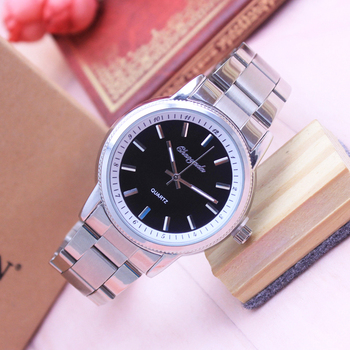 2018 cyd new women men couples lovers dress fashion quartz business watches sliver Stainless steel wristwatches religious