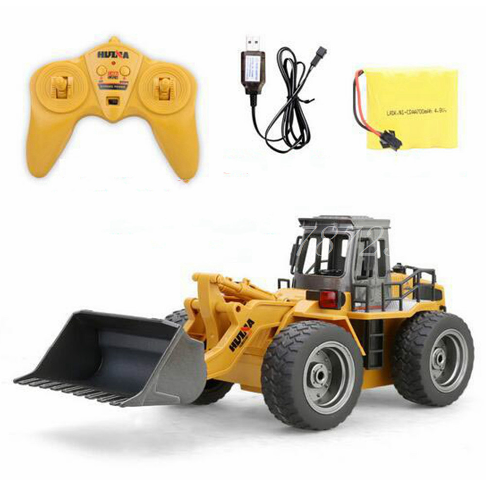 HuiNa Toys Electric Remote Control 520 Six Channel 1/14rc Metal Bulldozer Charging Rc Car Model Toy For Kids Christmas Gift