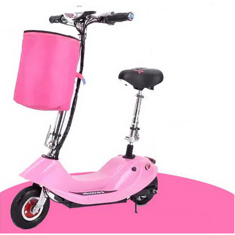 Flash Deal 261002/Ladies portable mini dolphin electric scooter / can carry children electric bikes / electric cars/Comfortable cushion 4