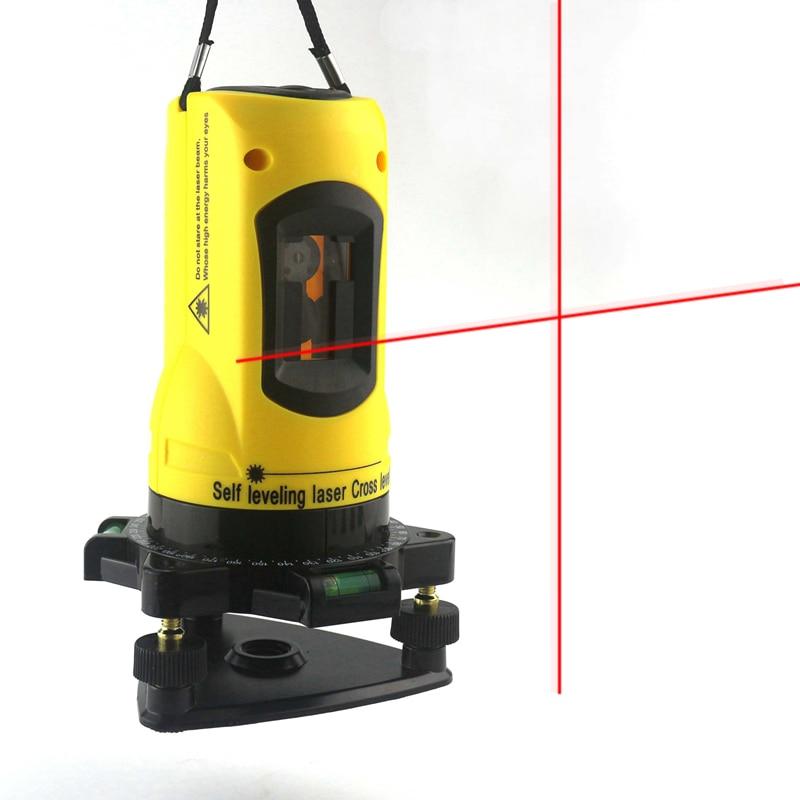 2 Red Cross Line Laser Level Self-Leveling 360 Horizontal Vertical Cross Laser Levels Diagnostic Tool Measuring Instrument
