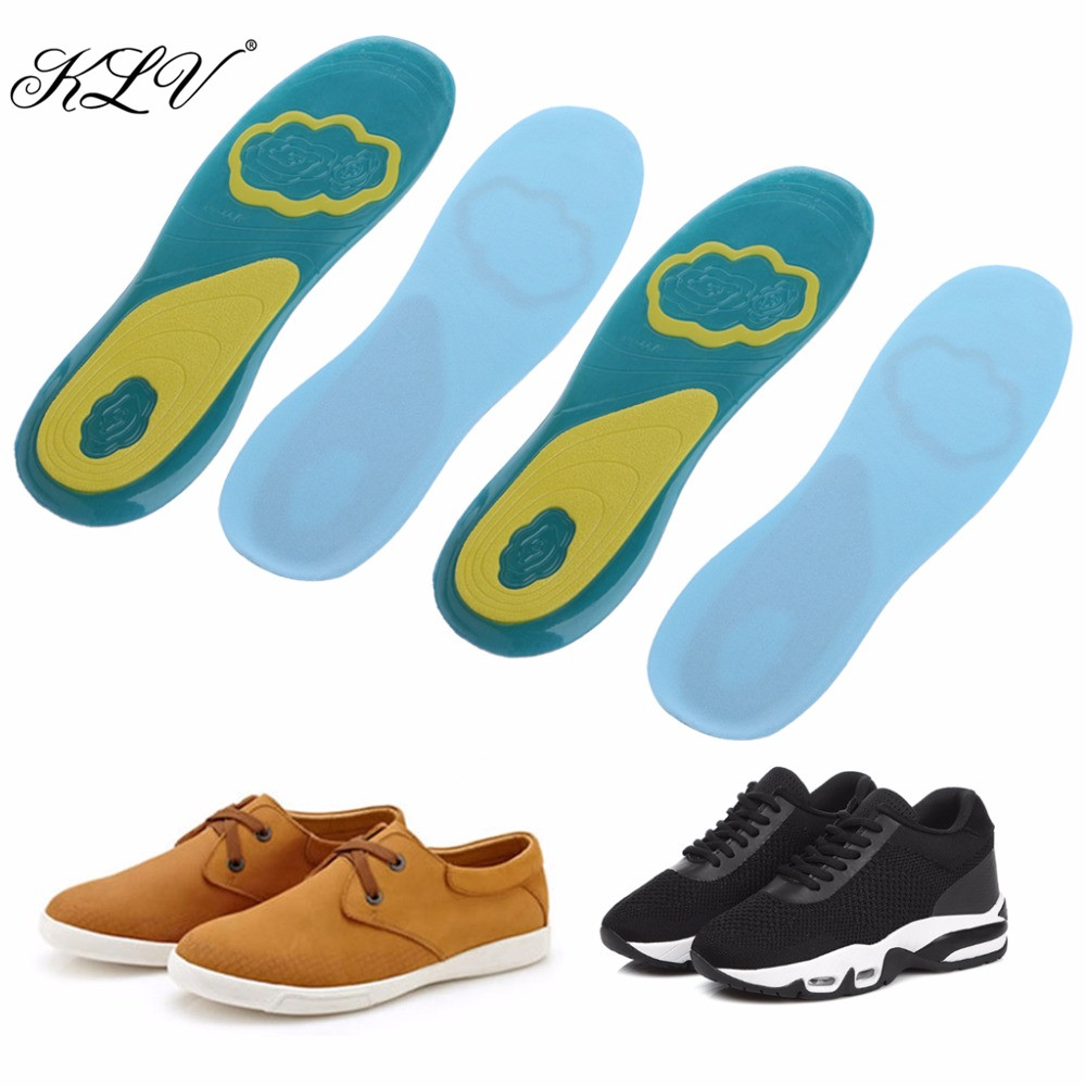 THINKTHENDO New 1 Pair Silicone Orthotic Arch Support Sport Shoe Men Women Massaging Insoles Soft Pad 1 pair orthotic arch support massaging silicone anti slip gel soft men and woman sport shoe insole pad