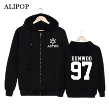 ALIPOP KPOP Korean Fashion ASTRO Spring Up 1st Mini Album 2nd Release Cotton Zipper Hoodies Clothes Zip-up Sweatshirts PT184(China)