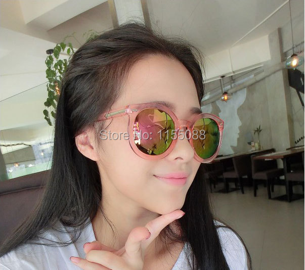 Fashion cool multicolour Mirror glasses sunglasses women Vintage sunglasses lady Designer sunglasses