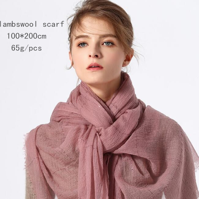 Naizaiga lambs wool thin multifunctional soft Air conditioned rooms warm pashmina 100 200cm summer spring scarves