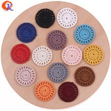Cordial Design 100Pcs/Lot 28MM Jewelry Accessories/Earring Jewelry Parts/Cotton Thread Flower Slice/Hand Made/Earring Findings(China)