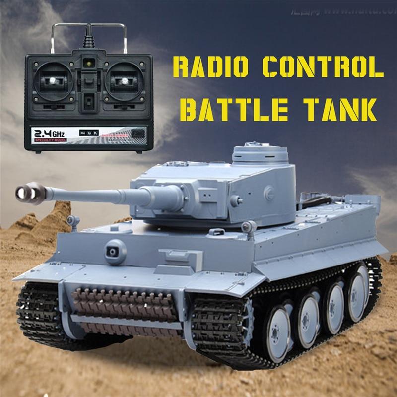 Nestest Heng Long 3818-1 2.4g 1/16 Allemagne Tigre Réservoir Radio Control Battle Tank RC Réservoir À Distance jouets pour garçons Cadeaux De Noël Pour Enfants