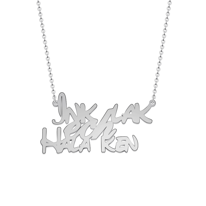 GORGEOUS TALE Spanish Words Daity Personalized Necklace Valuable Customized Name Jewelry Best Valentine`s Day Gift for Loves