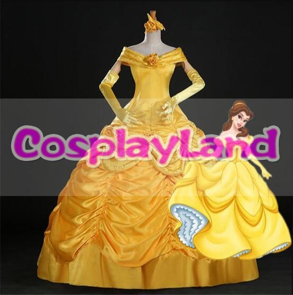 Skönhet och Beast Belle Dress Vuxenprinsessan Belle Cosplay Kostym - Maskeradkläder och utklädnad - Foto 1