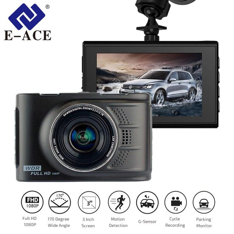 E-ACE Dvr Coche Mini Cámara Novatek 96223 Dash Cam 3.0 Pulgadas Full HD 1080 P Auto Registrator Grabadora de Vídeo Digital videocámara