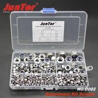 400pcs M3 M4 M5 M6 M8 M10 M12 DIN985 A2 Stainless Steel Nylon Lock Nut Metric