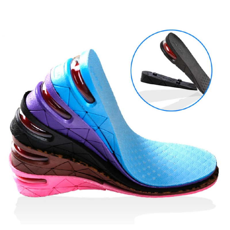 New Soft PVC Shock Absorption Increasing Height Sport Insole Shoe Insert Pad