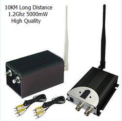 جهاز إرسال VHF 10 كجم بدون طيار جهاز إرسال الفيديو لاسلكياً مع 5000mW ، 8 قنوات 5 واط جهاز إرسال CCTV لاسلكي عالي الطاقة
