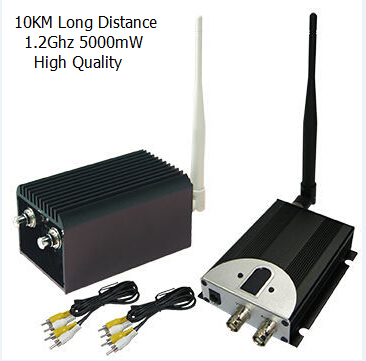 10KM VHF Transmitter UAV Wireless Video Transmitter with 5000mW, 8 Channels 5W High Power Wireless CCTV Transmitter