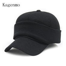 Winter warm Baseball cap ear protection caps face protectors male hat femlae cotton hats 2color