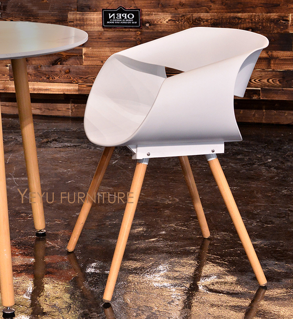 Minimalistischen Modernen Design Kunststoff Massivholz Esszimmerstuhl  Moderne Home Freizeit Stuhl Schöne Moderne Möbel Loft Cafe Design