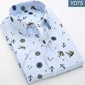 2016 Men print shirt   Summer Fashion Chemise Short sleeve Mens Dress Shirts Short Sleeve Male Tuxedo shirt