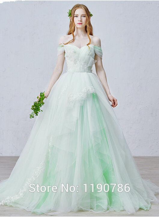 Unique Designer Mint Green Tulle Ball Gown Wedding Dresses Custom ...
