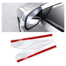 2Pcs Car Rearview Mirror Sun Visor Rain Eyebrow Auto Rear View Side Rain Shield Flexible Protector Car Accessories Sun Visor