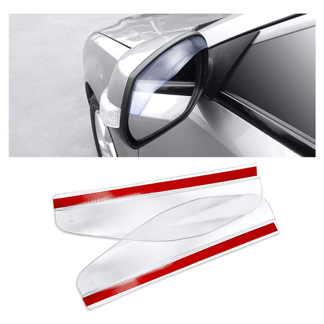 New 2 Pieces Car Rearview Mirror Sun Visor Rain Eyebrow Auto Car Rear View Side Rain Shield Flexible Protector For Car Styling