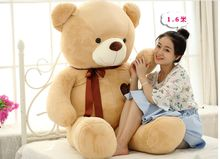 fillings toy huge 160cm light brown teddy bear plush toy love bear doll soft hugging pillow,Valentine's Day,Xmas gift c612
