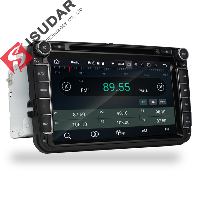 Isudar Car Multimedia player Android 8.0 GPS 2 Din Car Radio Audio Auto For VW/Volkswagen/POLO/PASSAT/Golf 8 Cores FM Radio IPS