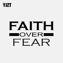 YJZT 13.3CM * 7.6CM İnanç üzerinde korku vinil çıkartması hıristiyan tanrı İsa araba STICKER siyah/gümüş C3-1400
